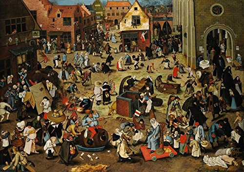 Fine Arts Puzzle Battle Between Carnival and Lent Brueghel Milton Bradley 1500 piece puzzle