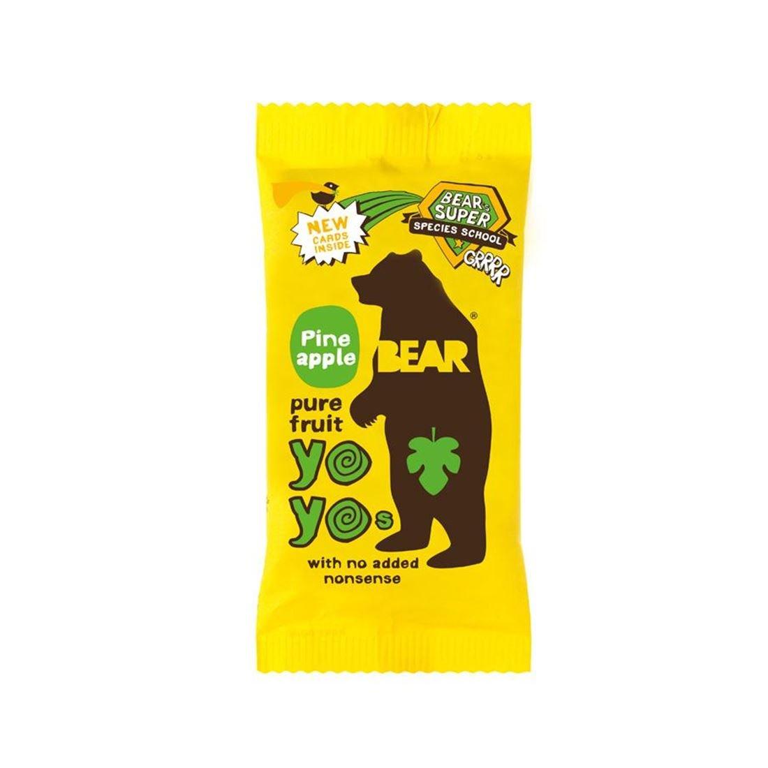 Bear | Yoyo Pure Fruit Rolls - Pineap | 18 x 20G