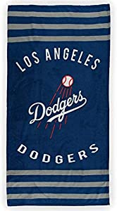 The Northwest Company MLB Los Angeles Dodgers Striped Beach Towel, 30 x 60-inches