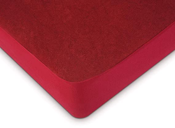 "Uppercut Waterproof and Dustproof Terry Cotton Mattress Protector – 72""x78"", Maroon"