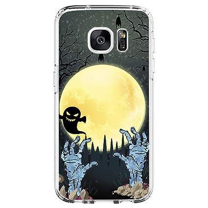Amazon.com: Funda compatible con Samsung Galaxy S7 Halloween ...