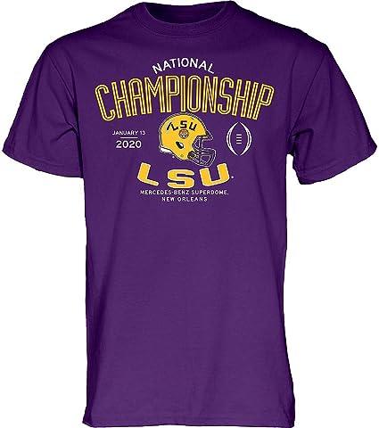 Elite Fan Shop LSU Tigers National Champs Tshirt 2019-2020 Championship Bound Back
