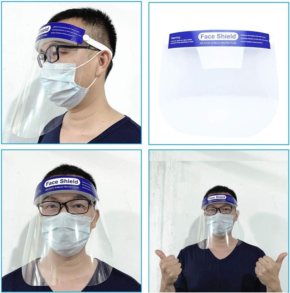 EXCEART 3 Pezzi di Protezione per Il Viso con Protezione per Il Viso Trasparente per La Protezione della Polvere Protezione per Il Viso Protezione Medica Antispruzzo Occhiali Protettivi per Adulti