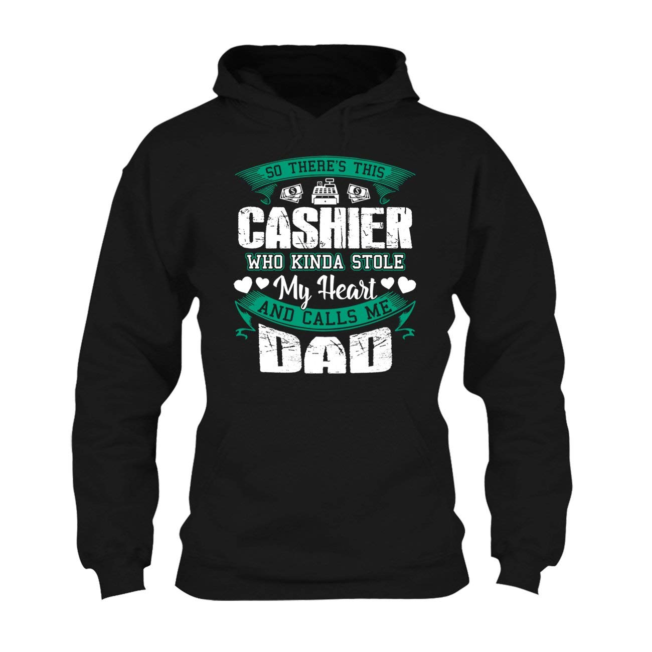 Hoodie Cool Sweatshirt Cashier Dad Tee Shirt