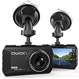 """Dash Cam, Qwoo Telecamera per Auto 3"""" LCD Obiettivo Grandangolare di 170 Gradi Blackbox 3.8X ZOOM Auto DVR Full HD 1080P, Registrazione in Loop, G-Sensor, Visione Notturna, Rilevatore di Movimento"""