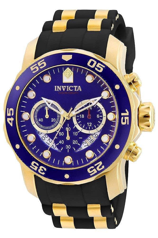 9b6a4691d0 Invicta Men's 6983 Pro Diver Collection Chronograph Blue Dial Black  Polyurethane Watch