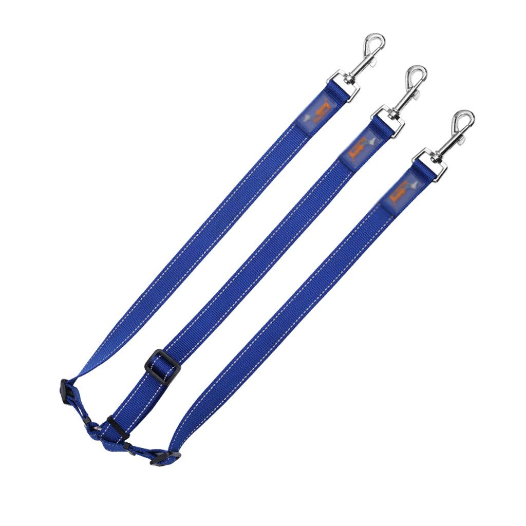 bluee 150cm bluee 150cm Pet Leash Hyena Rope Three-Headed Traction Rope Pet Leash with Reflective Strip Dog Chain Pet Supplies Medium Large Dog (Without Collar) (color   bluee, Size   1  50cm)