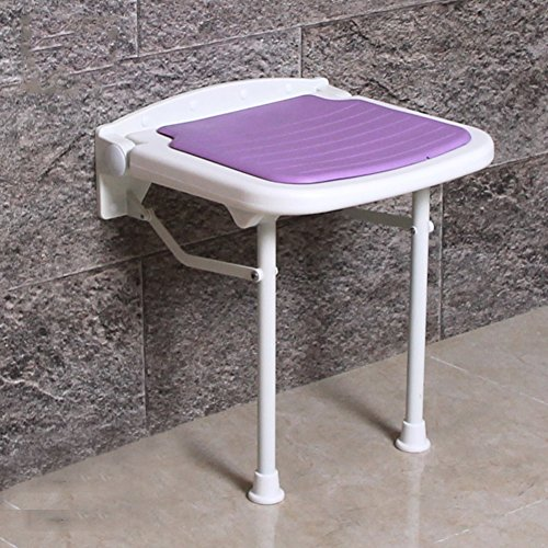 Shower seat,Folding seats Shower&bath stools&benches Wall mount Changing shoes stool For adults Elderly Bathroom Corridor Rest-purple (Wall Mount Toilet Plastic Seat)