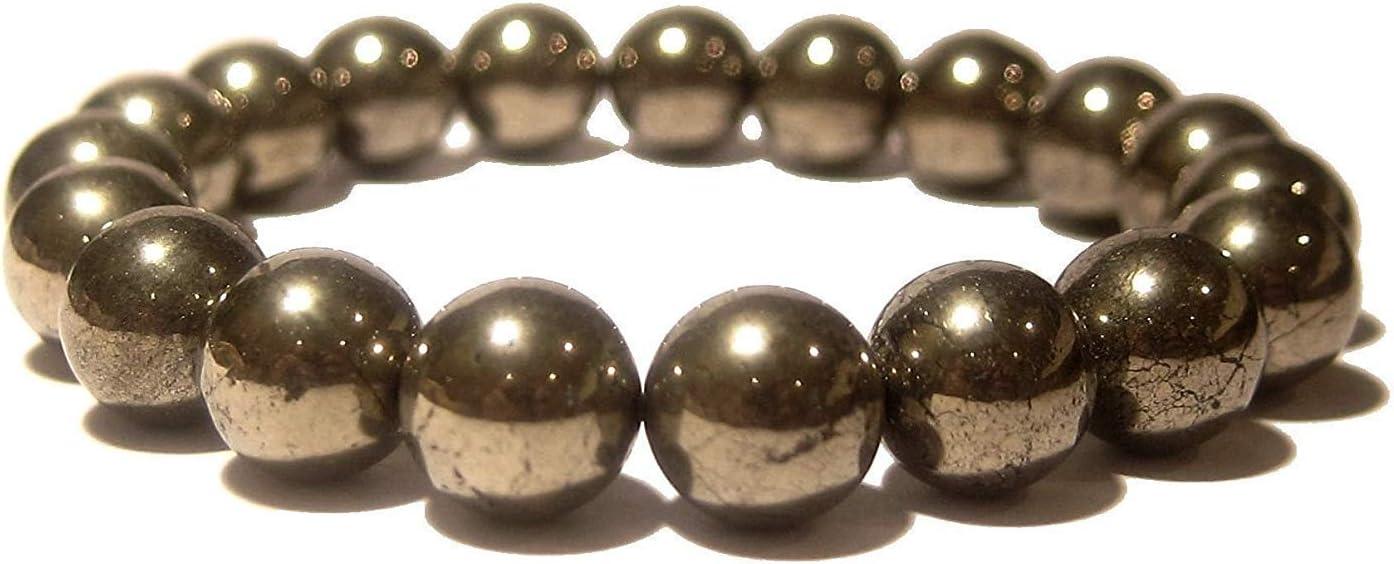 Pulsera natural de la pirita de oro pulsera del estiramiento de pulsera | 7-7,5