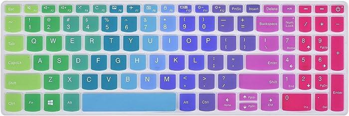 """iKammo Keyboard Covers Compatible with Lenovo 15.6"""" ideapad 320 330 330s 520 720s,15.6 inch Lenovo AMD Radeon A12-9720P,17.3"""" Lenovo ideapad 320 330 Keyboard Covers(Rainbow)"""