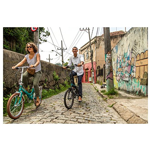 Amazon.com : Durban Sampa XL Folding Bike Shimano Black Bicycle Adults Men Women 24