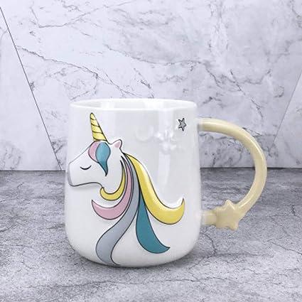 Tazza in ceramica da colazione tazzone con stampa unicorno per latte caffè thè