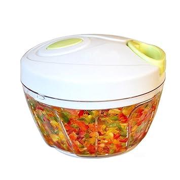 yykj cocina picadora manual de alimentos, mano con procesador de alimentos, compacto y potente