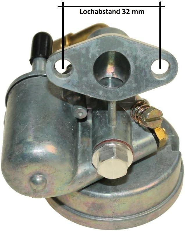 Vergaser 12mm Typ 1 12 225 Bing Nachbau Für Puch 50 Ms Mv Msv Ds Vz Moped Mofa Auto