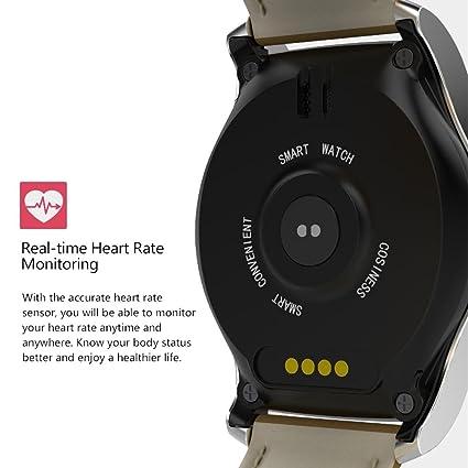 Nuevo KW28 Fashion Round Gear Smart Watch Monitor de ...