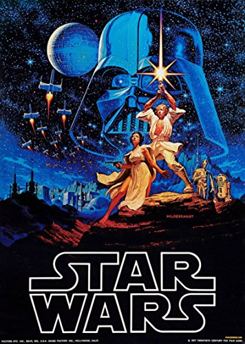 35.5 X 23.5 Inch Framed Star wars IV 4 Retro Large Moive Pos