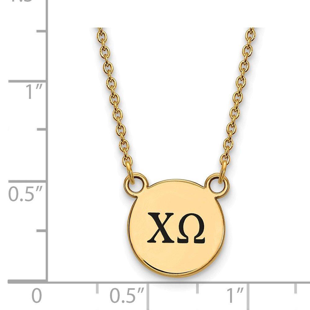 FB Jewels Sterling Silver Gold Plated LogoArt Appalachian State University Medium Pendant