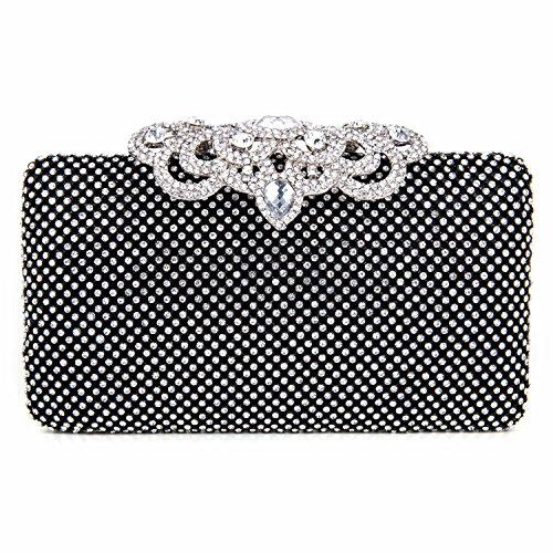 black evening purse crystal - 8