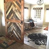 Reclaimed Wood Chevron Sliding Barn Door