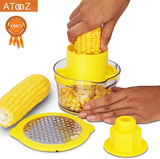 Corn Cob Stripper Remover Serrated Stainless Steel Blade Kitchen Tools US