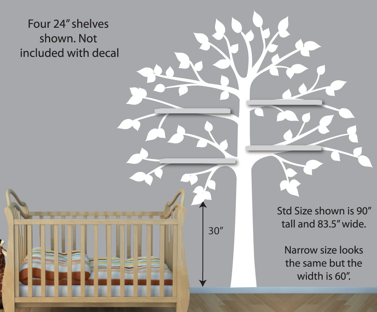 Amazon purple gray wall decals shelf tree wall decal girls amazon purple gray wall decals shelf tree wall decal girls room vinyl tree nursery wall decor baby amipublicfo Choice Image