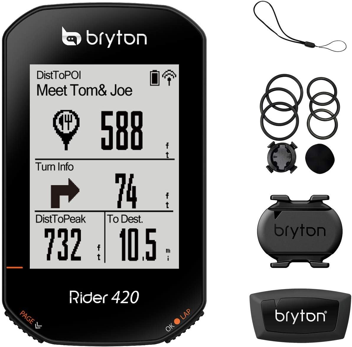 Bryton Rider 420 GPS, Adultos Unisex, Negro, Talla Única: Amazon ...