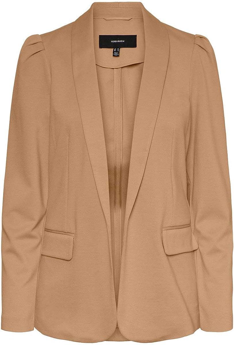 Vero Moda Vmnina L//S Blazer Box Chaqueta de Traje para Mujer