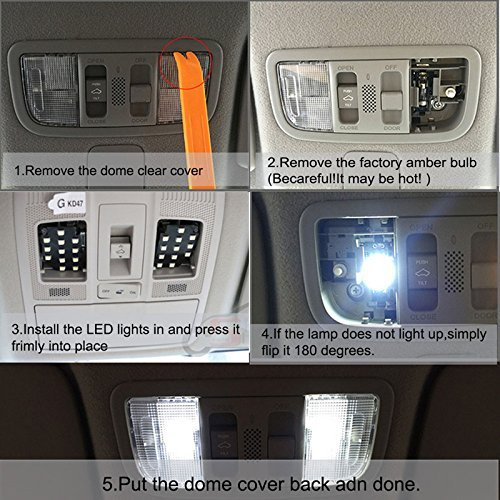 8X-SPEED 4pcs LED Fastoon C5W Bulbs For Jeep Patriot Compass Grand Cherokee  Led Interior Replacement Light White