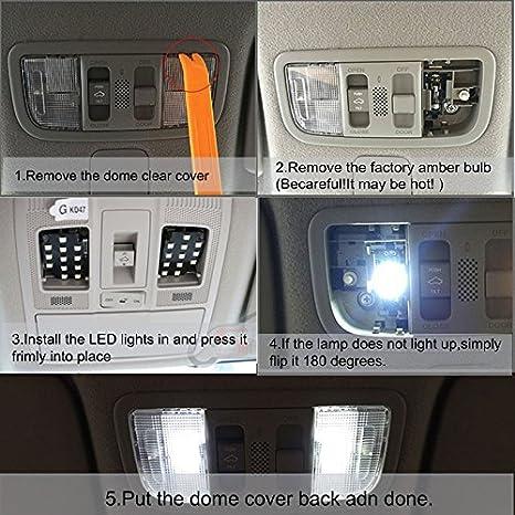 Amazon.com: For Toyota Rav4 Led Interior Lights Led Interior Car Lights Bulbs Kit White 6pcs 2007-2018: Car Electronics