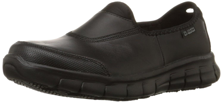 Skechers fAtilde;frac14;r Arbeit 76536 Sure Track-Rutschhemmende Schuh  36 EU|Black