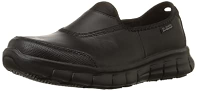 5912c0b88ed60 Amazon.com: Skechers for Work Women's Sure Track Slip Resistant Shoe ...