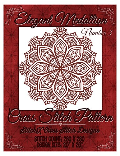 Elegant Medallion Number 3 Cross Stitch Pattern