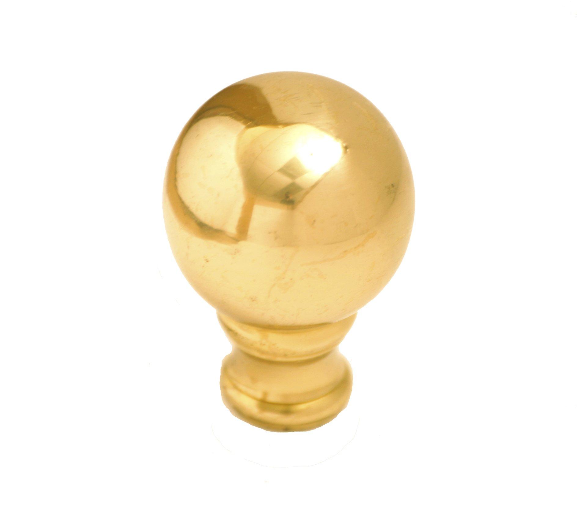 Royal Designs Medium Ball Lamp Finial, Polished Brass (F-106PB)