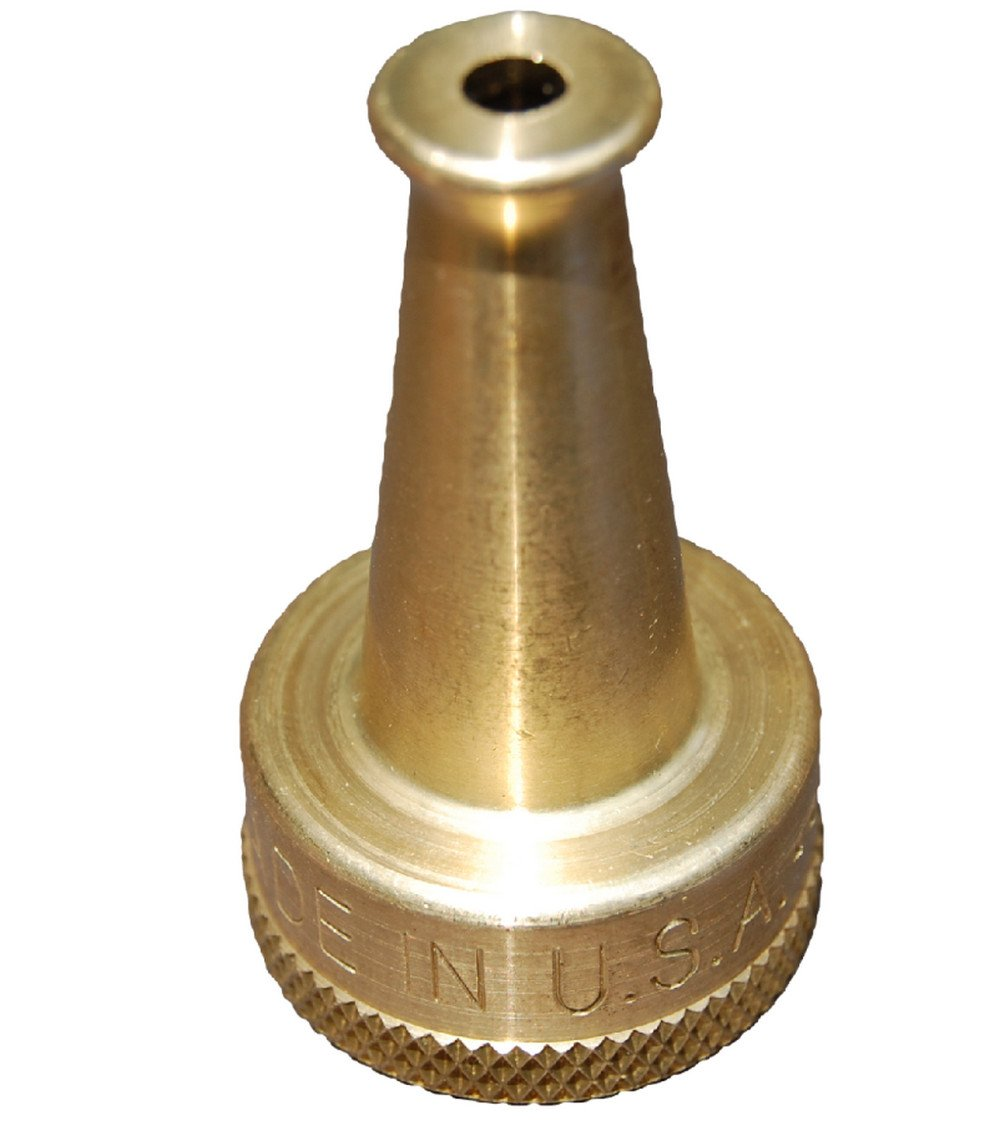 Solid Brass Hose Jet Sweeper Nozzle ~ Made in USA ~ with Extra Washers