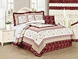 All American Collection New 6pc Georgia Embroidered Bedspread/Quilt Set (Queen 6pc)