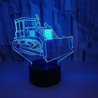 Lámpara wangZJ 3d / luz de noche para niños / / bulldozer ...