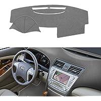 غطاء لوحة القيادة للسيارة، بدون لمعة، متوافق مع سيارة تويوتا كامري 2007، 2008، 2009، 2010، 2011 من سيليد، رمادي
