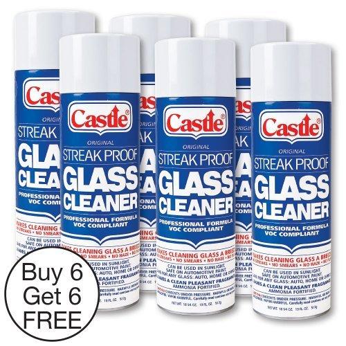 Castle C2003 Streak Proof Glass Cleaner, 12-Pack (Case)