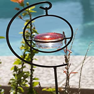 Best Hummingbird Feeder Stand - Easy-to-Use & Plants in Ground - Universal-Fit & Beautiful to See in Your Backyard or Garden