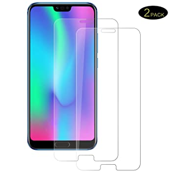 POOPHUNS Cristal Templado Huawei Honor 10, [2 Pack] Protector de ...