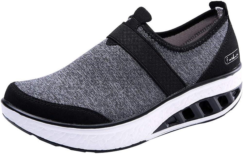 Zapatos Casuales para Mujeres Sneakers Zapatillas Altas de Moda de Mujer Acelerar Balancín Gruesa con Suela de Cuña