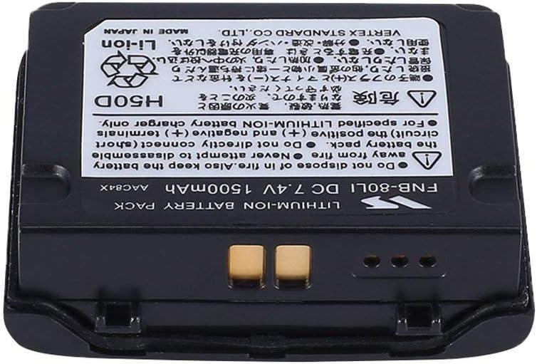73JohnPol Li Lithium-Ionen-Batterie f/ür Vertex YAESU VX7R VX-5 VX-5R VX-5R VX-6R VX-6E VX7R VXA-700 VXA-7 Radio 1500mAh /& Farbe: Schwarz