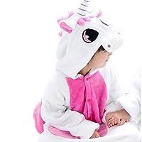 JT-Amigo - Pigiama Tutina Costume Animale - Bambina e Bambino - Unicorno Rosa, 9-11 Anni