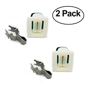 EXP570 (Pack of 2) Dryer Door Catch and Latch Kit Replaces LA-1003, LA1003, 00491624, WE01X10023, WE1X1158, WE1M1011, WE1X1192, WE1M536, WE1X1195, 5366021400