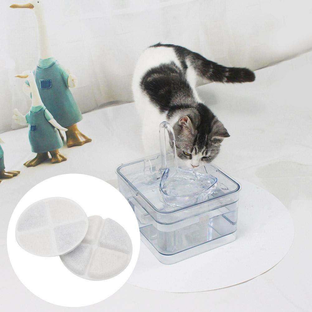 Fontana dellAcqua con Filtro a Carbone Attivo per Gatto e Cane VERLOCO Filtro in Cotone Riutilizzabile per la Pulizia del Filtro del distributore dAcqua per Gatti