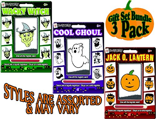 Wooly Willy Magnetic Personalities Halloween Gift Set Party Bundle - 3 Pack (Wacky Packages Poster)