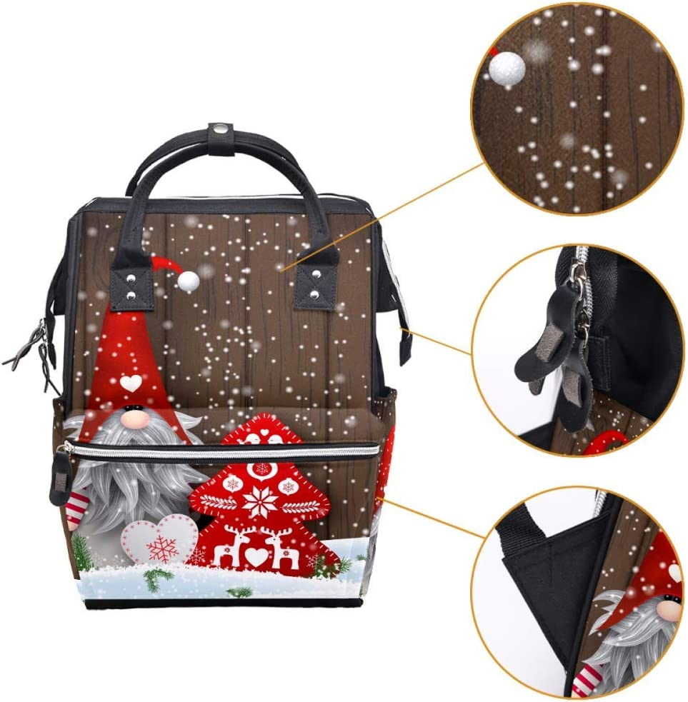 Motorcycle American Flag with Skull Diaper Bag Large Capacity Handbags Canvas Shoulder Backpack Changing Bags for Baby Care