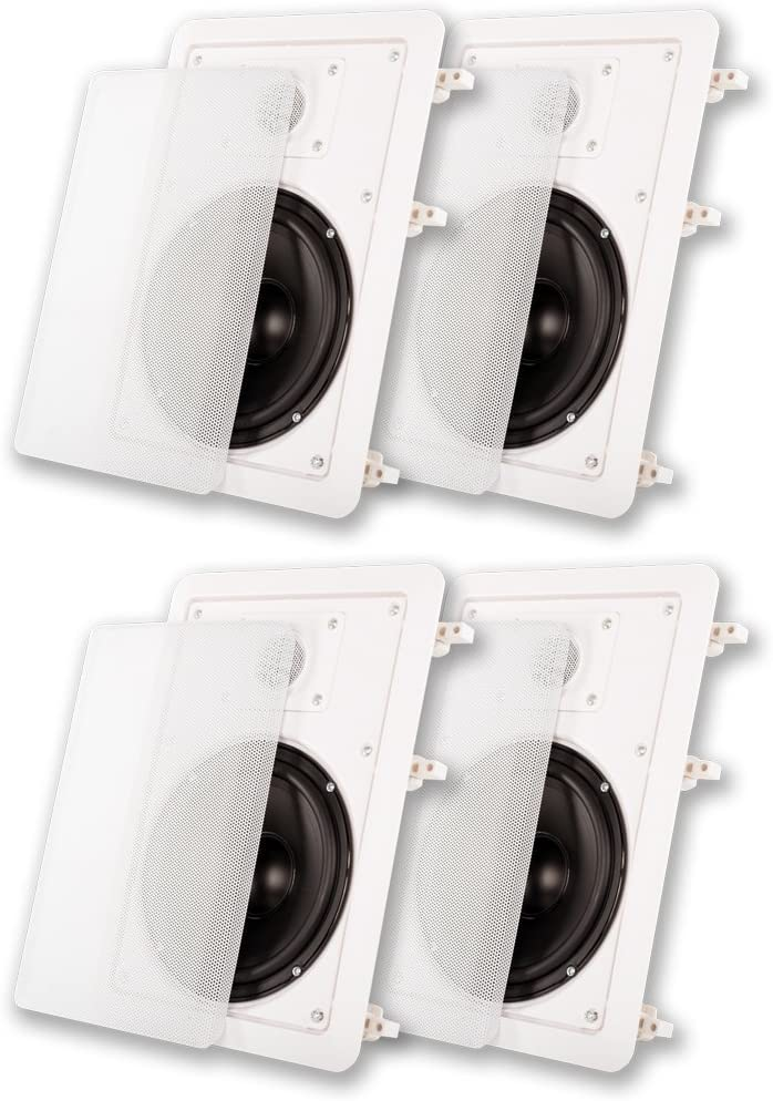 "Acoustic Audio MT6 Flush Mount in Wall Speakers with 6.5"" Woofers 2 Pair 61DUuKSDepLSL1000_"