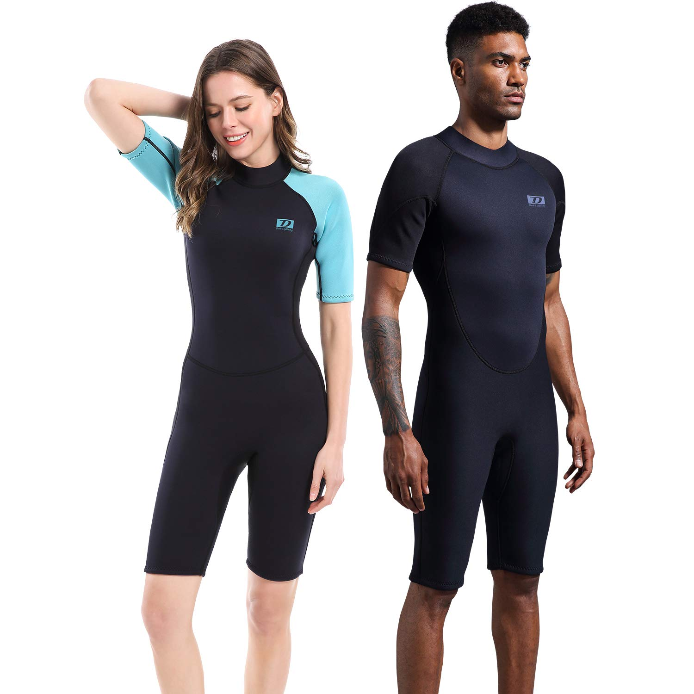51904fb7f Amazon.com: Dark Lightning 2mm Wetsuit Women, Women's Shorty Wet Suit  Premium Neoprene Kids 2mm One Piece Wet Suits Fishing, Diving,Surfing, ...