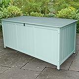 Avenue East Wooden Garden Locakable Storage Box, Green
